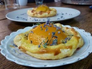Aprikosen Tartelettes mit Lavendel